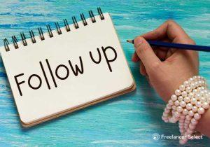 Porque follow up é importante - Freelancer select