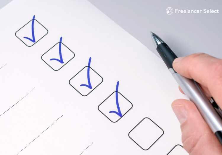 Realização de atividades do checklist